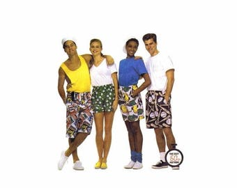 SALE Misses Mens Teen Boys Unisex Boxer Shorts McCalls 6104 Sewing Pattern Hip 34 1/2 - 36 UNCUT