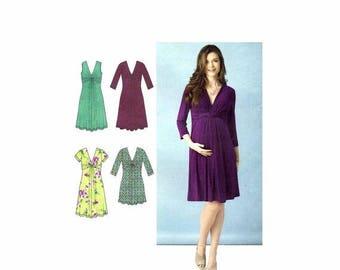SALE Maternity Knit Dress or Mini Dress Simplicity 1360 Sewing Pattern Size 8 - 10 - 12 - 14 - 16 Bust 31 1/2 - 32 1/2 - 34 - 36 - 38 Uncut