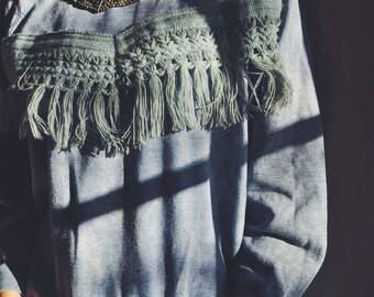 fringe sweater sweater // lost lands // 'mountain city'