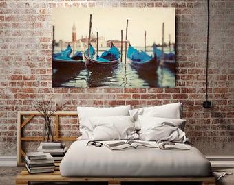 "Venice Canvas Print, Gondolas in Venice Italy, Large Artwork, Italy Wall Decor, Oversized Canvas Art, Grand Canal Photo ""Sploosh"""