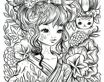 Midnight Festival - Coloring Page