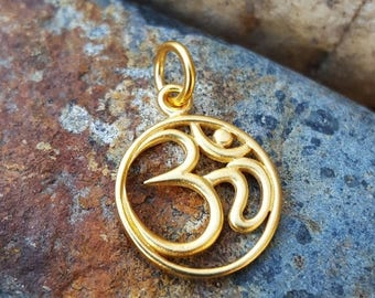 ON SALE TODAY Gold Om Charm - Yoga Jewelry