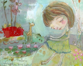 Time in Nature - mixed media art print by Mindy Lacefield