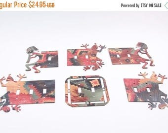 Vintage Collection of Southwestern Light Switch Plate Covers Gecko Double Sided ~ The Pink Room ~ 160904
