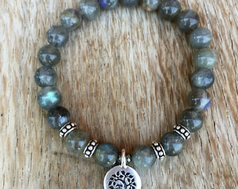 New - Luxe Labradorite Bracelet and Charm