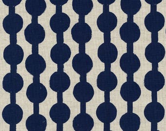 Japanese Fabric Kokka Ellen Baker Paint - beads - blue - fat quarter