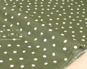 Japanese Fabric double gauze Snow Drops - green - 50cm