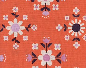 Cotton + Steel Welsummer - florametry - sweet orange - 50cm - PRE-ORDER