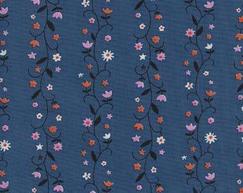 Cotton + Steel Welsummer - daisy vines - denim - 50cm - PRE-ORDER