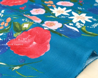 Nani Iro Kokka Japanese Fabric Fuccra : rakuen linen - C - 50cm