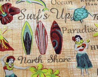 Fabric, Vintage Hula Girls, Fabric by the Yard