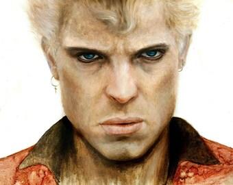 "ORIGINAL Billy Idol painting, 24x36"", oil on canvas portrait"