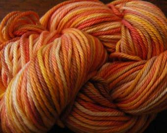 Handpainted Turkish Cotton Yarn 180yds 3.5 oz Worsted Weight Hand Painted Aspenmoonarts C046 knitting weaving