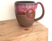 SALE Pottery mug, birthday gift for her, handmade coffee mug, coffee lover, mom, sister, grandma, girlfriend, coworker, rustic