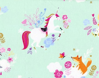Shopping Cart Cover - Padded Boutique Shopping Cart Cover for Baby Girl  - Unicorn and friends