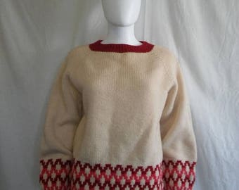 Closing Shop 40%off SALE Handmade wool pullover sweater jumper