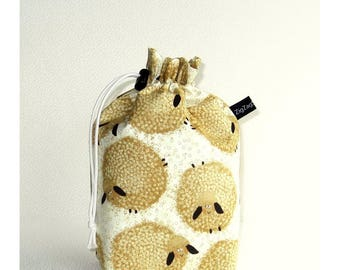 Drawstring Bag Knitting Project Padded Pouch  - Wash Day fluffy sheep