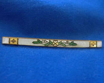 Antique Brooch, Bar Pin, Guilloche, Art Deco, Edwardian, ca 1900-1910 NT-1413