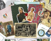 Vintage French Napoleon and Josephine Romantic Inspiration Collage Pack