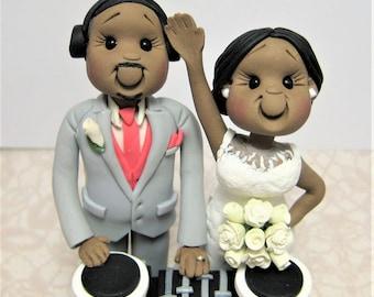 DEPOSIT for a Customized DJ disc jockey music theme Wedding Cake Topper
