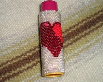 Hearts Lip Balm Cover