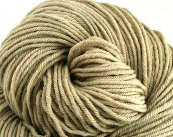Hand Dyed Aran weight mini Empire Rambouillet Wool 213 yds 4oz Haystack