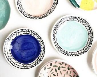 Ceramic Ring Dishes Handmade