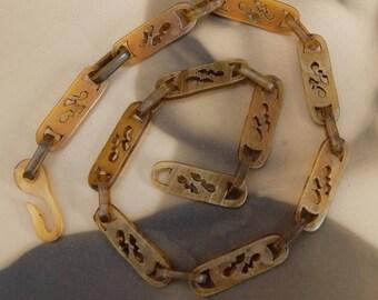 Vintage Celluloid Link Chain Necklace