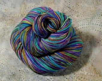 "Wonder Sock yarn - ""The Big O"" - superwash Blueface wool and nylon 465 yards 3.5 ounces"