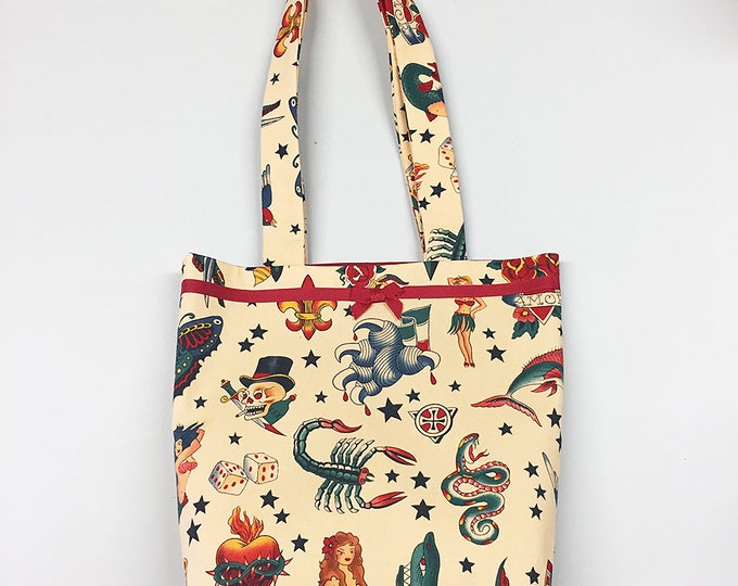 Tote Bag - Traditional Tattoo Flash