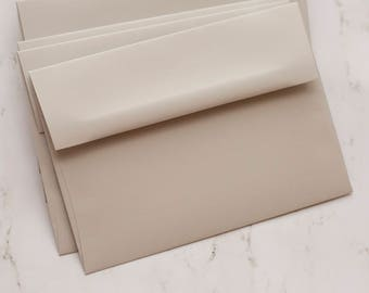 A7 light gray envelopes - perfect for 5 x 7 photos and cards, quantity 25, PASTEL GRAY