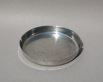 Leif Wessmann Ashtray Made in Norway Mid Century Modern  Stainless Steel Ashtray