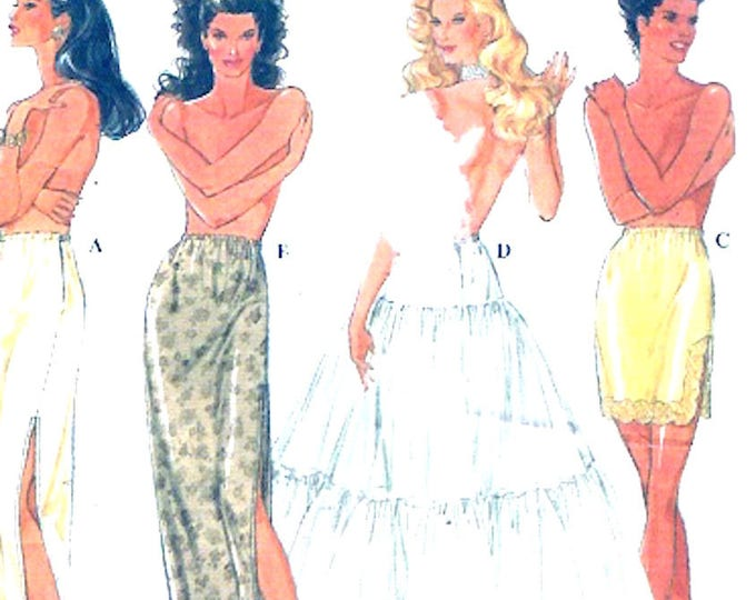 Brides Slips petticoats Rockabilly style wedding Lingerie Simplicity 9027 sewing pattern Sz XS to XL UNCUT