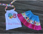 Shopkins Girl Outfit- Shopkins Birthday Party Skirt & Top- Shopkins Birthday Get Personalized Outfit