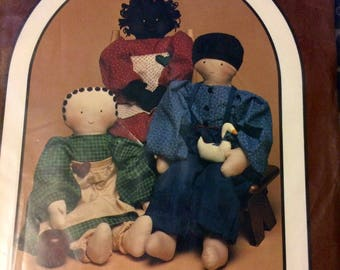 UNCUT Sewing Pattern Gingersnap Friends Dolls Dream Spinners 119 Uncut  Complete 30 inch dolls