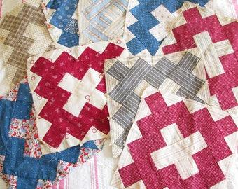 Rural Life...Antique Patchwork Calico Quilt Blocks