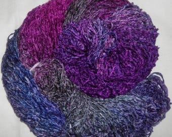 Handpainted Soft Rayon Chenille Yarn  BOYSENBERRY  -  360 yds