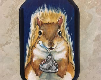 Hershey's Kiss - A Small Squirrel Painting