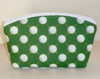 Golf - Zippered Pouch - Golf Gifts - Golf Gifts for Women - Golf Accessories - Golf Tee Bag