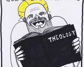 God Doing Some Light Reading PRINT