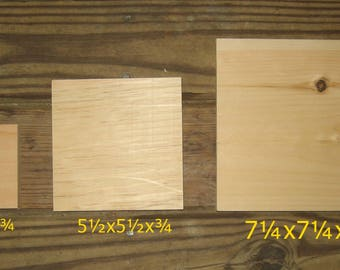 Unfinished wood squares for DIY'ers