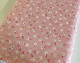 Glamping fabric, Fabricshoppe GlamperLicious fabric, Camping Camper Fabric, Vintage Camper Riley Blake, Floral in Pink, Choose the cut