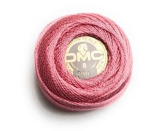 DMC 899 Perle Cotton Thread |Size 8| Medium Rose Pink