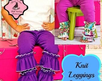 SALE Knit Leggings Pattern -- 6m - 10 years Instant