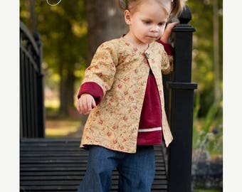 SALE Whimsy Couture Sewing Pattern Tutorial -- Reversible Jacket  --sizes 12 m - slim 12 girls PDF Instant