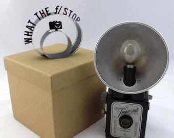 What the f/ Stop - Film Reel Gift Packaging Bow - Pop Up Letters Word Loop - Repurposed from Movie Film Strips - Photographer Gift - Camera