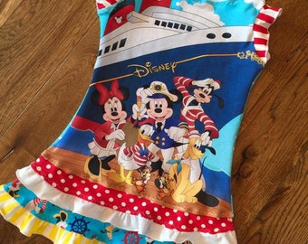 Cruise halter character dress mouse disney custom boutique 2-size 14 girls