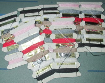 Lot of Seven Sewing Kits Kit LOT Needles Thread and Threader
