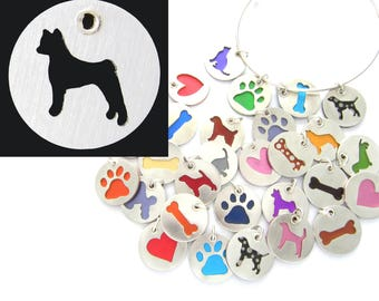 Basenji Sterling Silver Necklace Pendant Charm - Lots of Colors