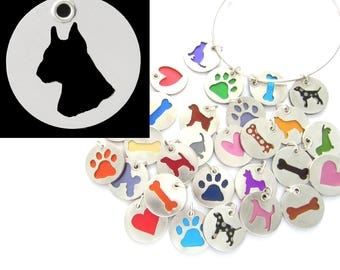 Boxer Dog Head Sterling Silver Necklace Pendant Charm - Lots of Colors
